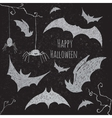 Halloween bat set vector image