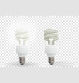 lighting and not working powersave lamp on vector image