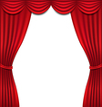 Luxury red curtain on white background vector image