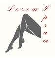 Woman legs logo vector image