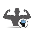 fitness silhouette glove gym graphic vector image