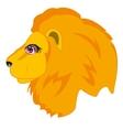 Head animal lion vector image