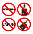 set vaping icons vector image