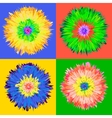 Pop art flower vector image