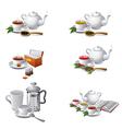 tea icons2 vector image vector image