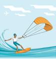 kitesurfing - vector image