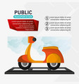 motorcycle delivery service public transport vector image