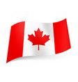 national flag of canada red and white vertical vector image