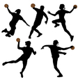 Handball Silhouette vector image vector image