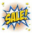 comics style sale tag yellow super sale web vector image vector image