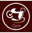 coffee cup icon in a circle vector image
