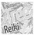 Celtic Reiki Word Cloud Concept vector image