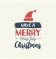 christmas text quote vintage card vector image