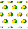 lemon simple line style seamless pattern vector image