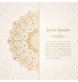 Oriental ornament Ethnic lace pattern in vector image