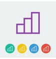 statistic flat circle icon vector image