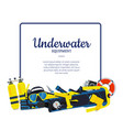 underwater diving elements vector image