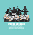 Video Recording By Smartphone During The Show vector image