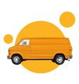 yellow car vector image