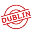 Dublin rubber stamp vector image