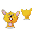 Hamster front and back vector image vector image