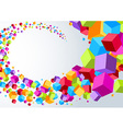 Swoosh made of colorful cubes vector image