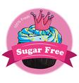 A pink sugar free label vector image vector image