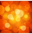 Orange bokeh effect abstract background vector image