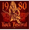 Rock concert poster - 1980s vector image vector image