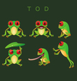 Collection of tod vector image vector image