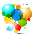 Circles - Colorful Bubbles - Abstract on Whi vector image vector image