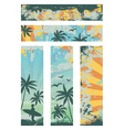 grunge summer banners vector image vector image