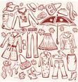 autumn clothes vector image