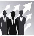 business people teamwork growth arrow vector image