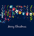 christmas garland with serpentine and multi vector image
