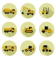 Construction machines icons vector image