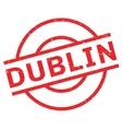 Dublin rubber stamp vector image