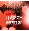 Elegant red billboard with hearts and place for vector image