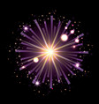 fireworks bursting in shape of star with radiant vector image