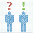 Man question vector image
