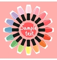 Multicolored nail lacquers in a circle vector image