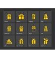Present box icons vector image