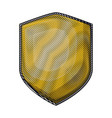 shield with colored crayon silhouette vector image