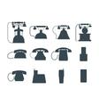 Telephones icons vector image