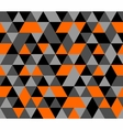 Tile background orange black and grey triangle vector image