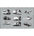 Various Transport Modes Symbol Set vector image