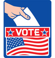 USA Vote Poster Design vector image vector image