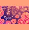 happy diwali festival banner vector image