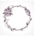 abstract line elegant floral frame vector image