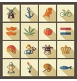 Netherlands icons vector image